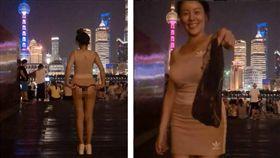 辣模「美食甜心勾兒」是一名美食評論家,她常在Instagram上po出性感照,擁有16萬名粉絲追蹤。日前到她到上海外灘大膽撩短裙、露蜜桃臀,甚至還當眾脫掉蕾絲黑內褲。不少網友看到後,紛紛暴動直喊「我X了!」(圖/翻攝自ago928 IG)