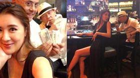 小禎與曾國城在賭城拉斯維加斯的照片。(翻攝臉書)
