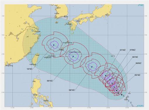 瑪莉亞恐成超級颱風/翻攝自JTWC