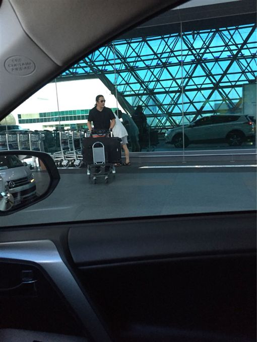 黃安在桃園機場