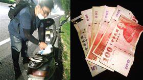 他掏錢救急推車大叔,半個月後對方守信還錢了,網友大讚「正能量爆棚」。(圖/翻攝爆料公社)