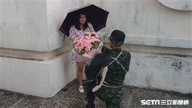第六軍團秀百人刺槍術 中士下跪求婚 第六軍團提供