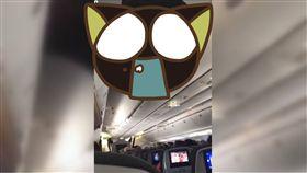 機艙,天花板,United Airlines,著陸,美國,降落,機場,華盛頓 圖/翻攝自臉書 https://goo.gl/zSgxK2