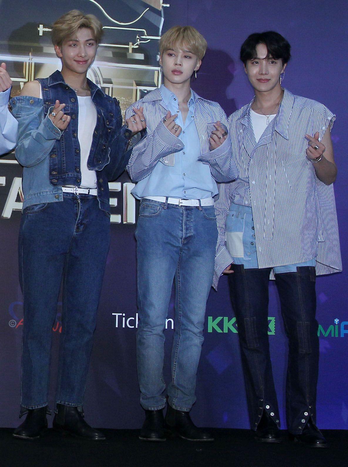 韓國世界頂級BTS防彈少年團。(記者邱榮吉/攝影)