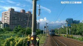 電車線設備故障 台鐵搶修中!二結冬山單線雙向通車 圖/台鐵提供