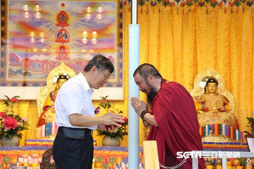 柯文哲出席出席世界佛教正心會行動佛殿啟用典禮 北市府提供