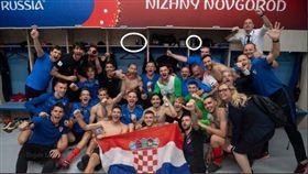 克羅埃西亞使用非官方運動飲料。(圖/翻攝自推特)