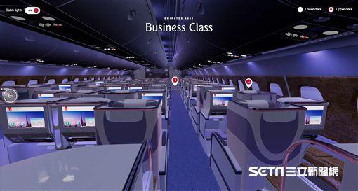 阿聯酋航空3D虛擬座艙系統。(圖/阿聯酋航空提供)