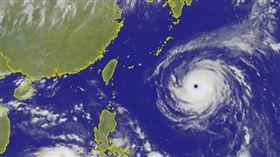 颱風瑪莉亞 圖翻攝自中央氣象局