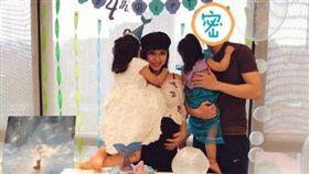 ▲▼王力宏一家人為大女兒慶祝4歲生日。(圖/翻攝自微博)