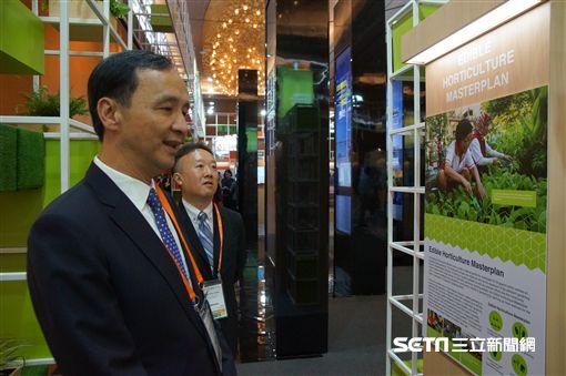 新北市長朱立倫,於今(8)日出席,在新加坡舉行的「世界城市高峰會」市長論壇 新北市府提公