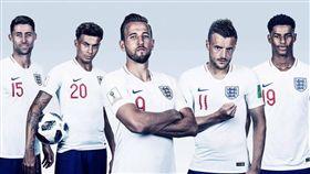 英格蘭國家隊。(圖/翻攝自英國在台辦事處臉書)