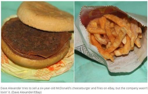 放了6年的麥當勞套餐,男子拿來拍賣遭下架。(圖/翻攝cbc.ca)