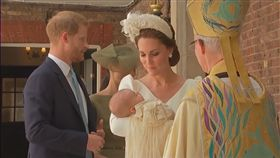 英國,凱特王妃,受洗,路易王子,穿著(圖/翻攝自AP影音)