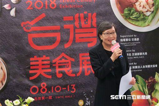 台灣觀光協會,台灣美食展,葉菊蘭。(圖/記者簡佑庭攝)