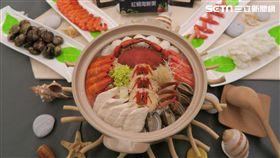台灣美食展,海鮮粥,海灣旅遊年。(圖/記者簡佑庭攝)