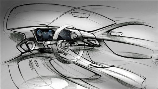 Mercedes-Benz GLE內裝設計圖。(圖/翻攝motorbox網站)