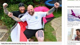 賭很大!英國大叔紋身「英世足冠軍」 世足,世界盃,英格蘭,凱恩,Harry Kane,紋身,冠軍 https://www.mirror.co.uk/news/real-life-stories/dad-two-confident-england-win-12886439