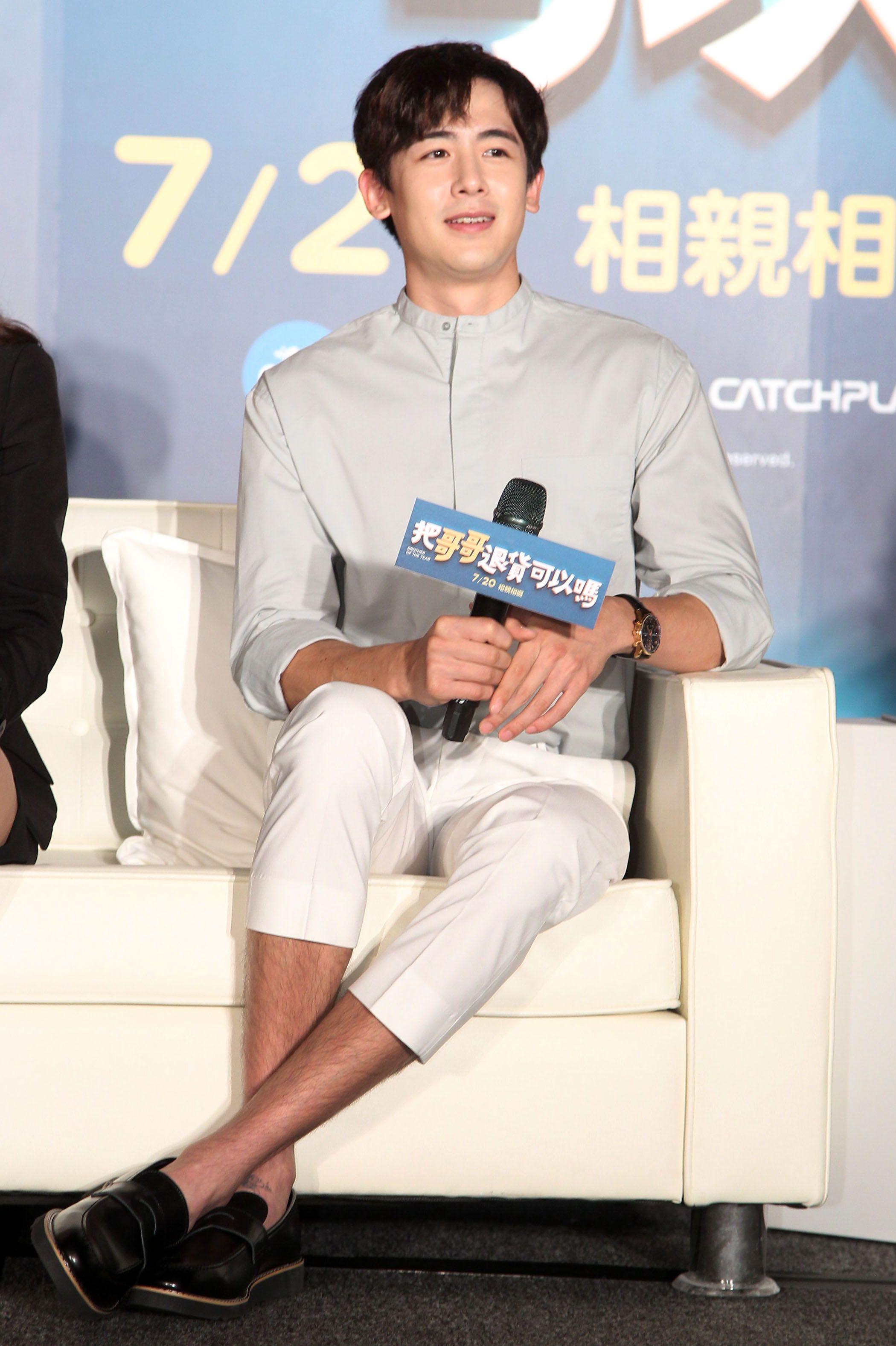 泰國電影「把哥哥退貨可以嗎」男主角2PM團員尼坤、Sunny。(記者邱榮吉/攝影)
