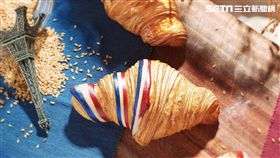 Gontran Cherrier(GC)可頌,法國國旗可頌,雲朵可頌。(圖/GC提供)