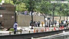 台北,AIT,美國在台協會,瀑布,泥流,瑪莉亞,颱風(圖/翻攝AIT畫面)