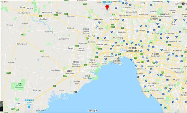 墨爾本兩機場相對位置。(圖/翻攝自Google Map)