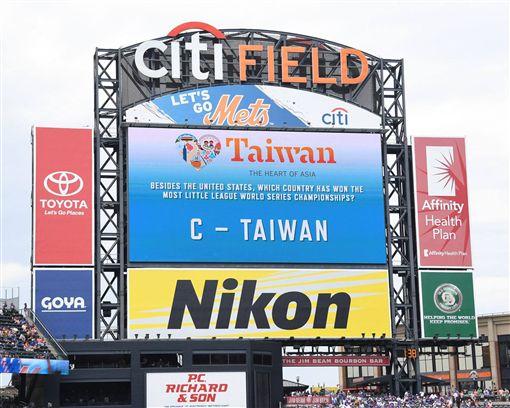 ▲主場大螢幕「Taiwan Baseball Trivia」。(圖/大都會提供)