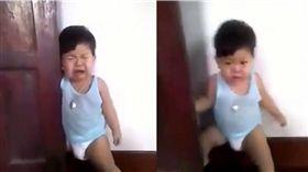 影/男童遭門夾腿痛哭!眼尖媽一看驚覺「案情不單純」 圖/翻攝推特
