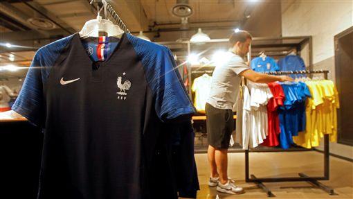 法國隊球衣。(圖/路透社/達志影像)