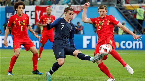 法國隊擊敗比利時。(圖/路透社/達志影像)