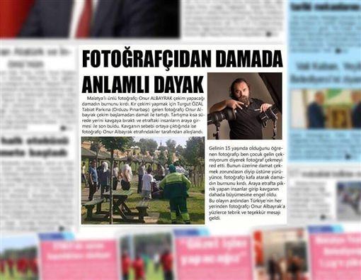 土耳其,婚攝,Onur Albayrak,痛毆,新郎(圖/翻攝自Onur Albayrak臉書)
