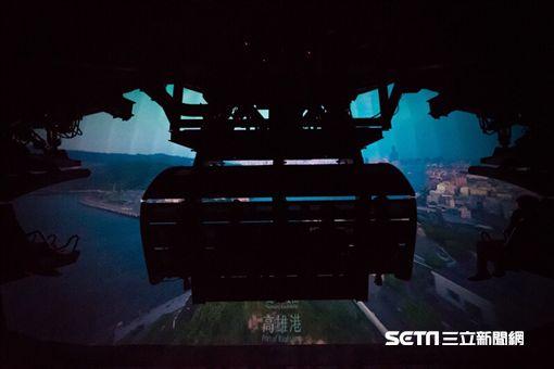 全台第一座空中飛行模擬器遊樂設施「動感台灣」。(圖/義大世界提供)