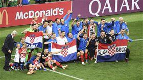 克羅埃西亞是第13支闖進世足冠軍戰隊伍。(圖/美聯社/達志影像)