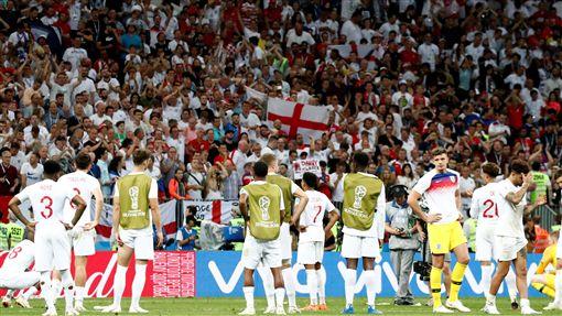 英格蘭球迷賽後向球員表達感謝(圖/路透社/達志影像)