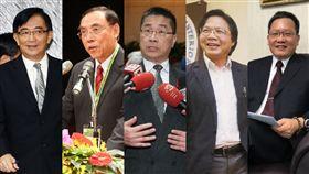 內閣改組名單 合成圖/中央社 吳宏謀、蔡清祥、徐國勇、葉俊榮、蘇建榮
