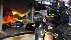 藍寶堅尼Huracán Performante跑車起火燃燒/Parker Gelber、Kirkwood Firefighters Community Outreach臉書