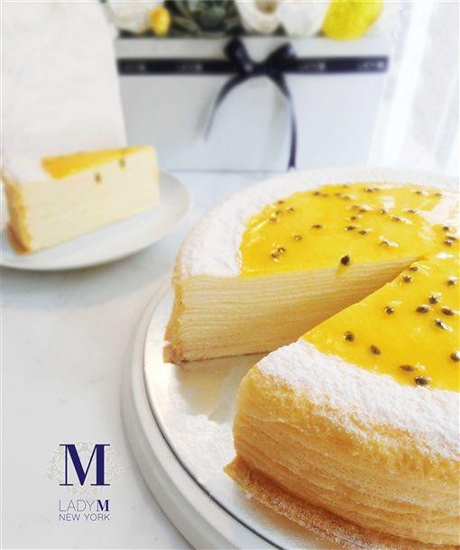 Lady M百香果千層蛋糕。(圖/Lady M提供)
