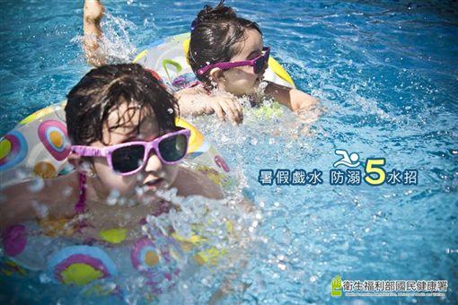國民健康署,夏日,戲水,親子,溺水,牛仔褲