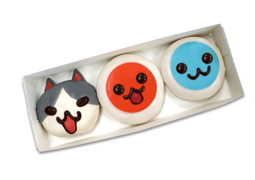 太鼓之達人甜甜圈,造型甜甜圈,太鼓達人(圖/Krispy Kreme提供)