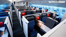 達美航空商務艙,座椅,波音777客機,過夜包。(圖/達美航空提供)