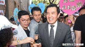前總統馬英九出席「AIT在台40周年台美關係展」。 (圖/記者林敬旻攝)