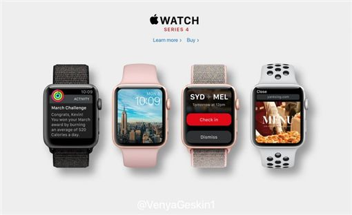 翻攝網路 Apple Watch Series 4