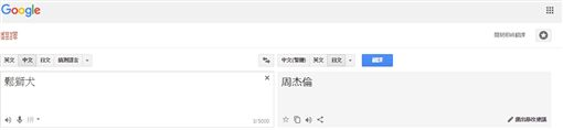 周杰倫,鬆獅犬,日文,翻譯,Google(圖/翻攝自Google翻譯)