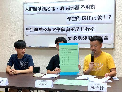 大專宿舍不足 學生團體籲重視居住正義高教工會、反教育商品化聯盟等團體14日在台北召開記者會,指文大宿舍爭議,反映台灣長期以來學生宿舍極度缺乏、居住權益受損的問題,呼籲重視學生的居住正義。中央社記者陳至中台北攝 107年7月14日