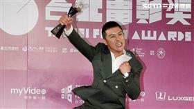 鄭人碩獲頒台北電影獎最佳男配角,心情相當開心。(圖/記者邱榮吉攝影)