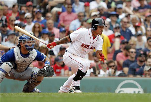 ▲波士頓紅襪內野手林子偉今年首次守三壘。(圖/美聯社/達志影像)