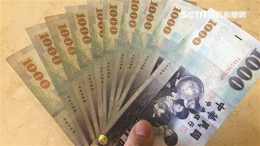 新台幣,紙鈔,錢,薪水,吃土,物價,鈔票,荷包(圖/資料照)