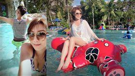 李佩甄跟家人前往關島度假/比基尼/泳裝。(翻攝臉書)