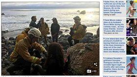 美國俄勒岡州一名年輕女子失蹤一週後,在加州海邊斷崖下方獲救。媒體報導,女子是靠她駕駛的運動休旅車的水箱水管,引鄰近小溪水來喝,幸運存活下來。(圖/翻攝自每日郵報)