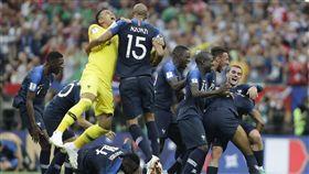 法國第二度拿下世界盃冠軍。(圖/美聯社/達志影像)